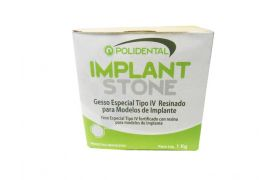 GESSO ESPECIAL IMPLANT STONE TIPO IV RESINADO BEGE - POLIDENTAL